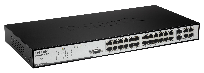 D-Link DES-3028P Fast Ethernet L2+ Switch Descargar Controlador