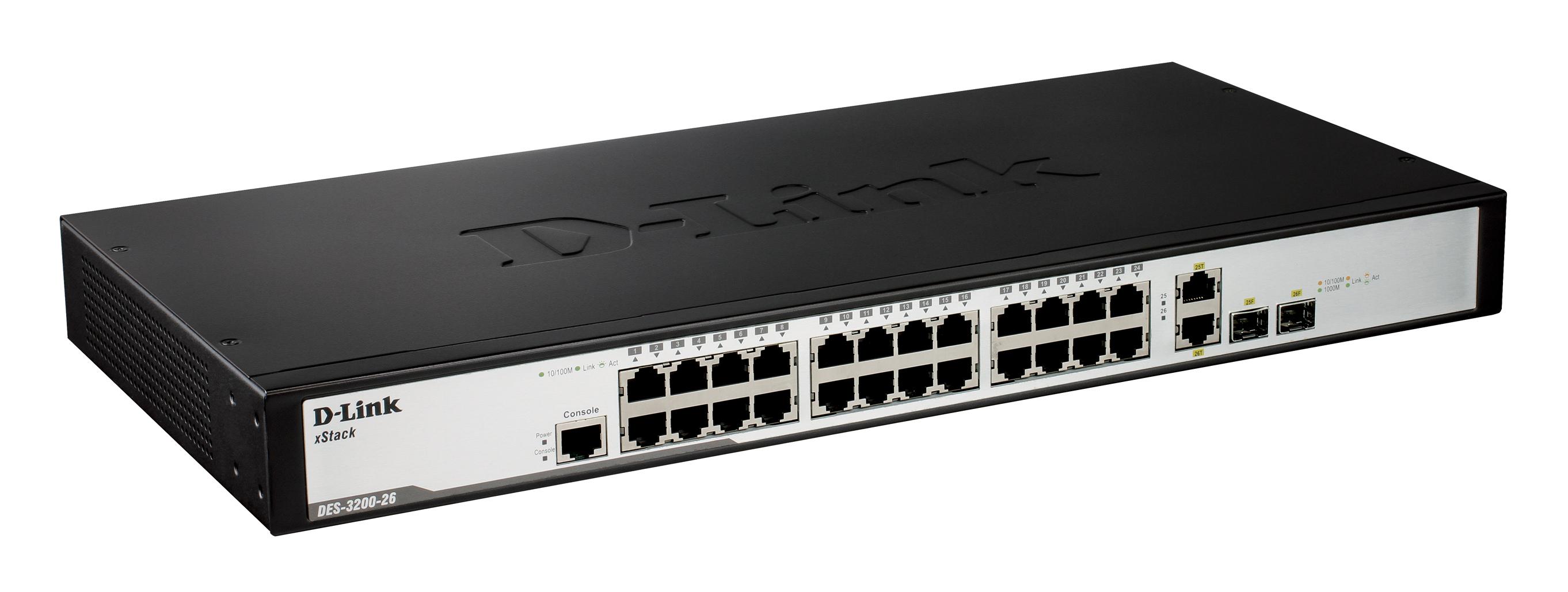 Xstack Managed 24port 10100 L2 Switch 4 Gigabit Copper Ports Edimax Es 1008p 8 Port Fast Ethernet Poe 24 10 100base T 2 Combo 1000base Sfp